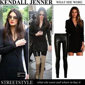J Brand Leather Edita Leggings Sz L Noir